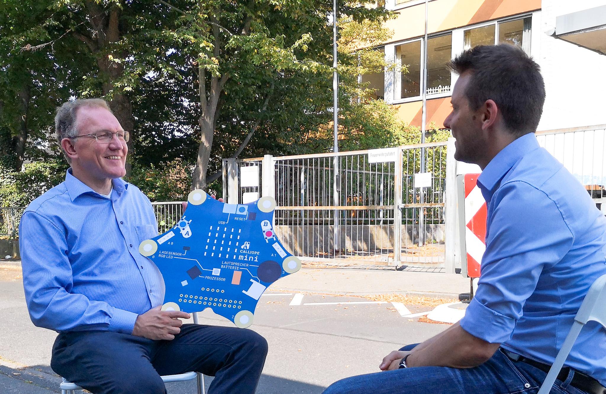 Gregor Berghausen, Porzer Bürgerstiftung, im Gespräch mit Dr. Simon Bujanowski, SPD